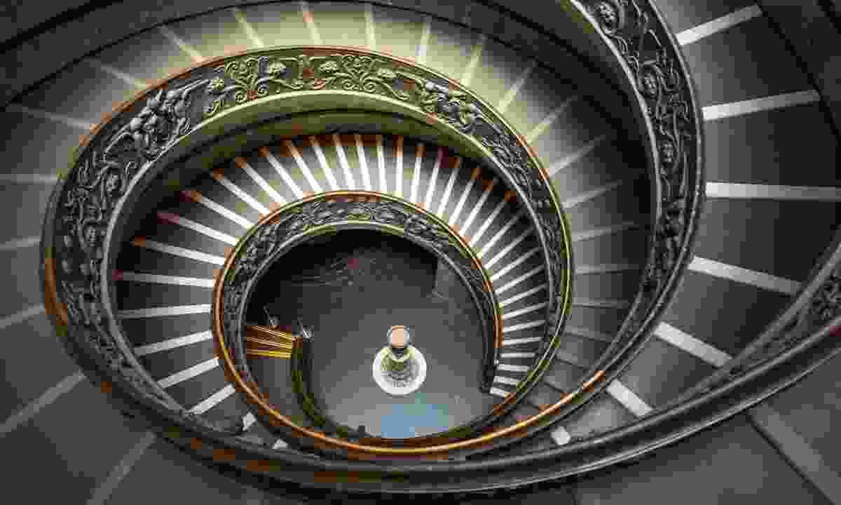 Spiral Stairway inside Vatican Museum (Dreamstime)