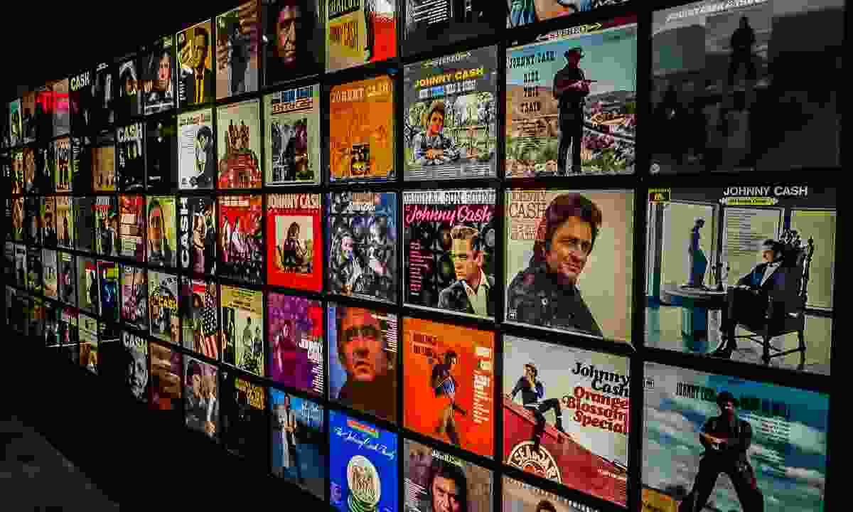 Inside the Johnny Cash Museum (Shutterstock)