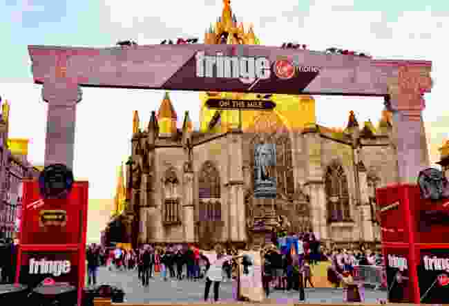 A sign for the Edinburgh Fringe Festival on the Royal Mile, Edinburgh, in 2018 (Shutterstock)