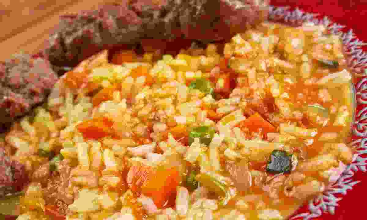 Jollof rice is a favourite dish in Sierra Leone (Shutterstock)