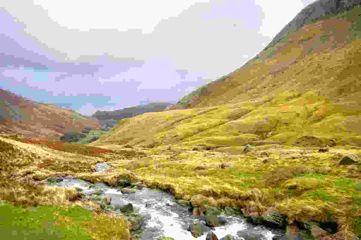 Looking along Grizedale Beck, St Sunday Crag is on the right. Lake District, Cumbria (Dreamstime)