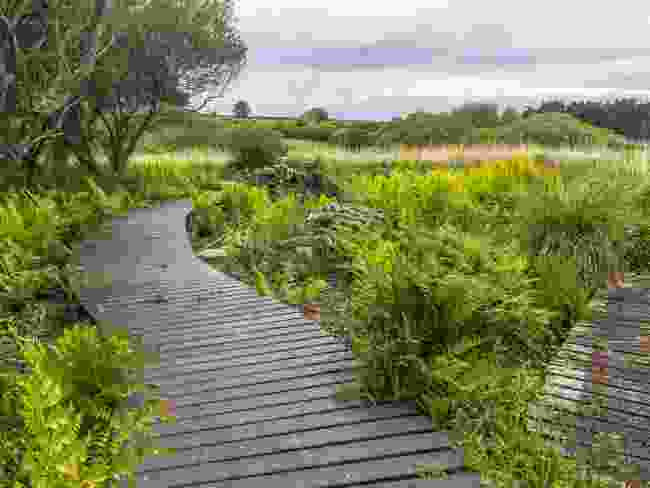 A new boardwalk on St Mary's made from recycled plastic (Wanderlust)