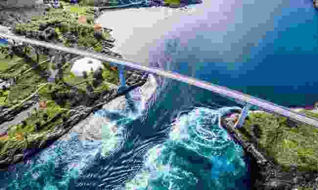 Saltstraumen whirlpool, Norway (Dreamstime)
