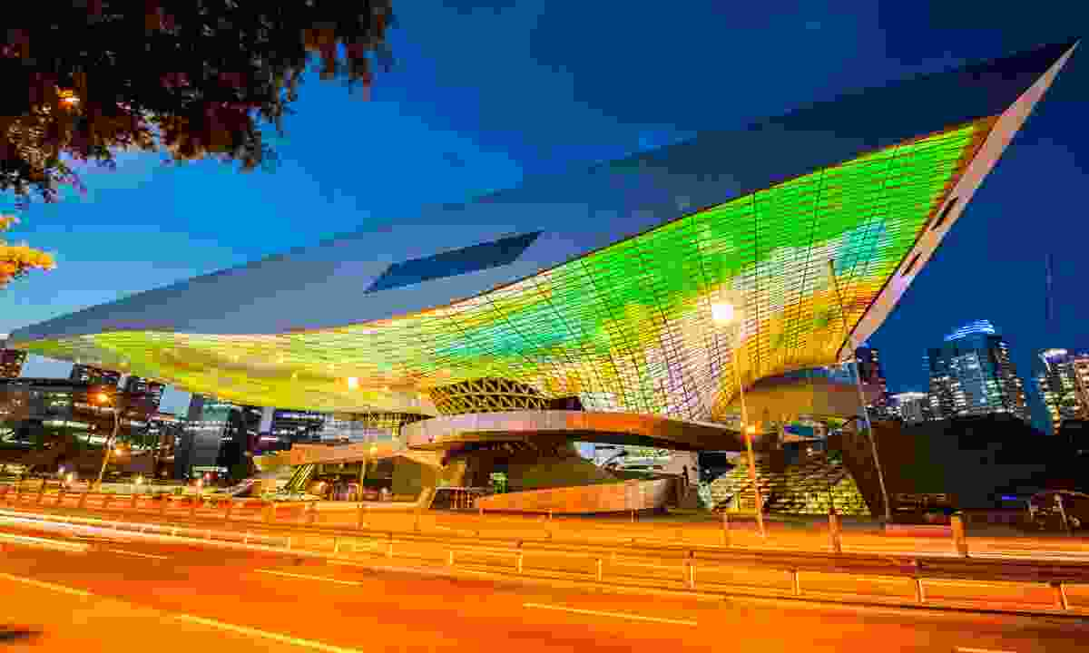 Busan Cinema Centre at Night (Shutterstock)