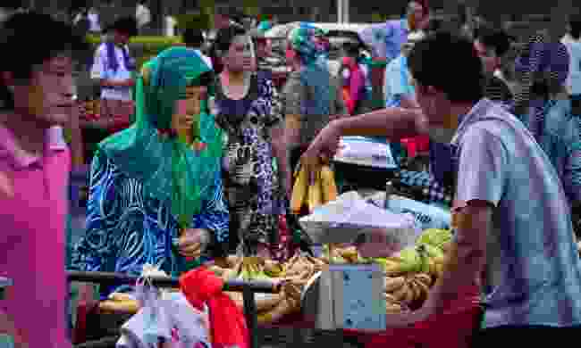 People at a market in Turpan (Dreamtime)