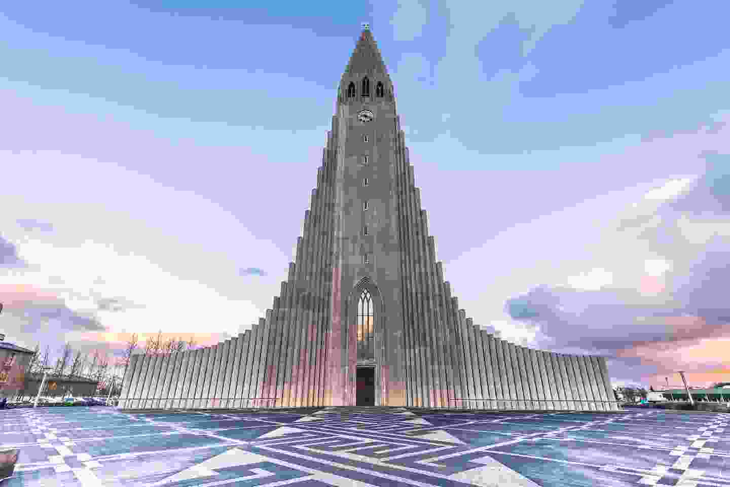 The impressive Hallgrímskirkja up close (Shutterstock)