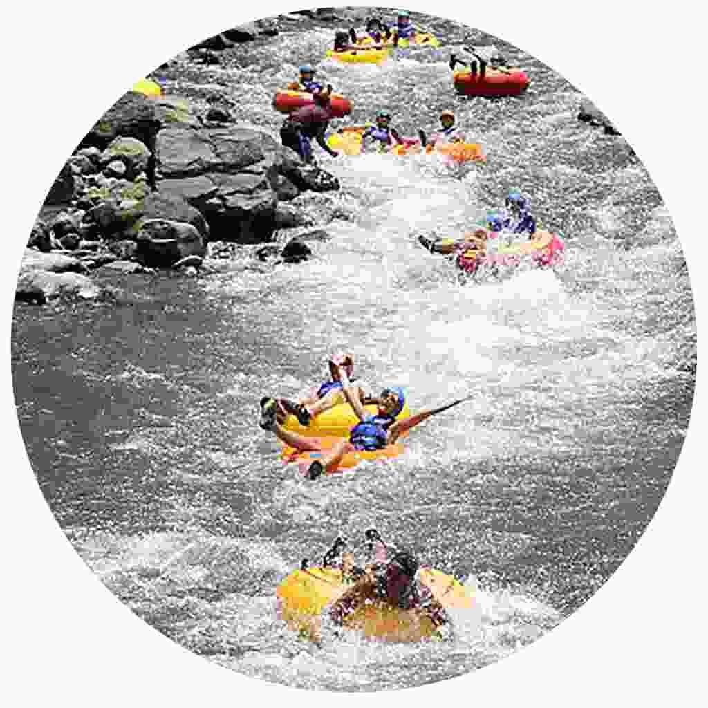 Adventurous river tubing
