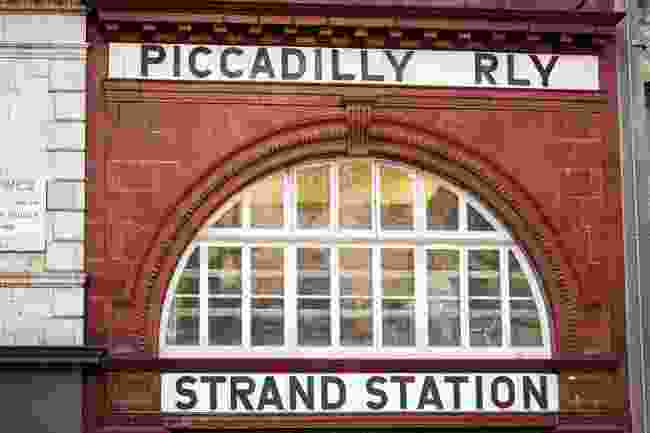 Old Aldwych, also called Strand, tube station entrance (Shutterstock)