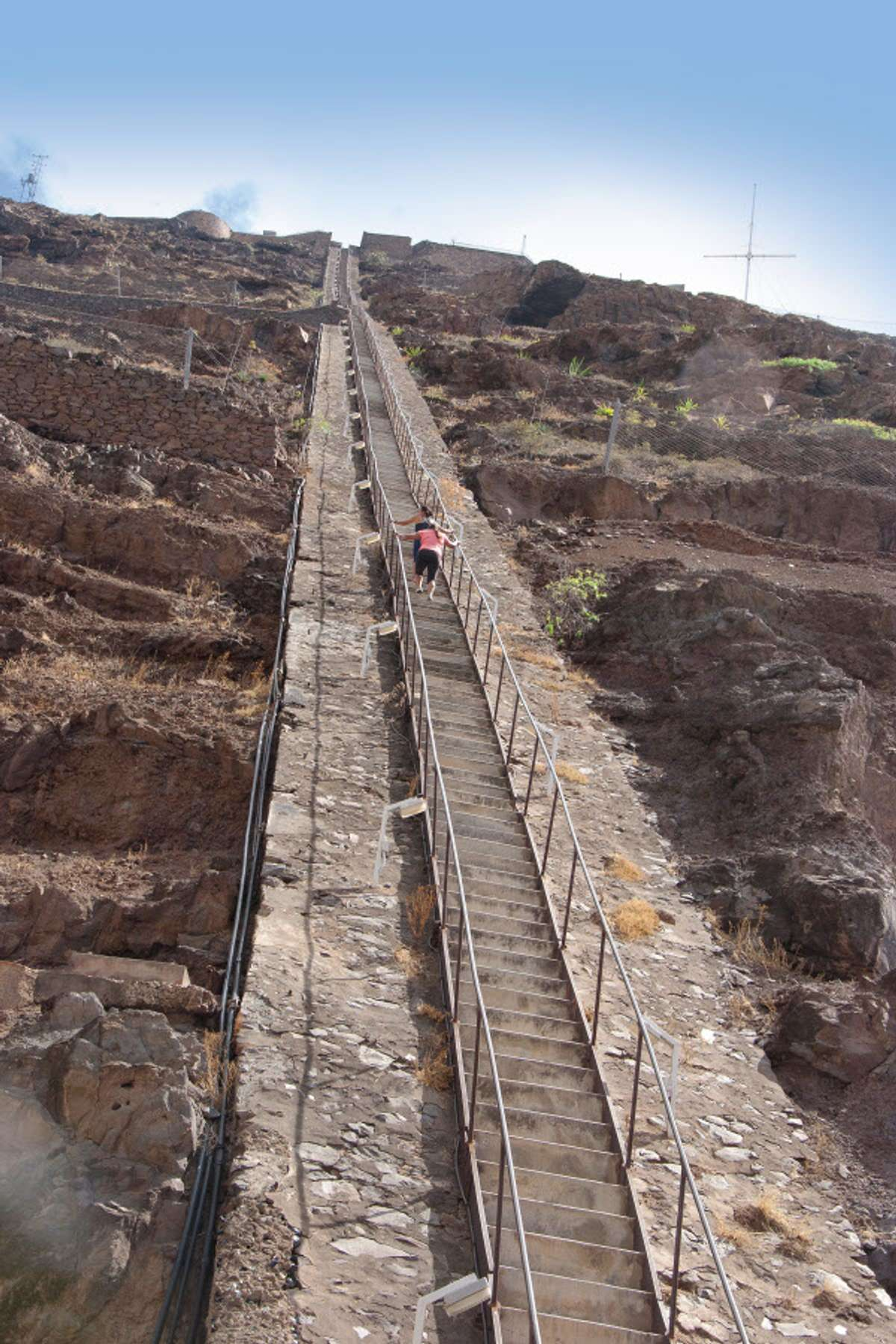 The 699 steps that lead up Jacob's Ladder (Lyn Hughes)