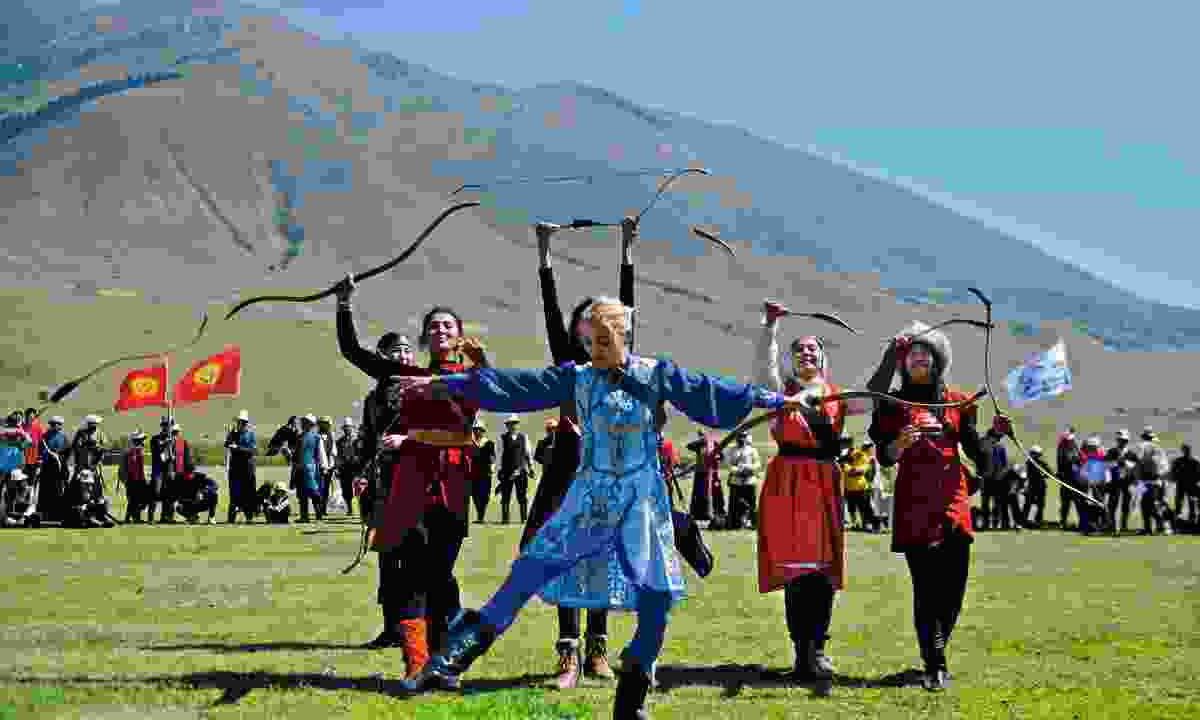 Archery opening ceremony at the Kyrgyzstan World Nomad Games (Mark Stratton)