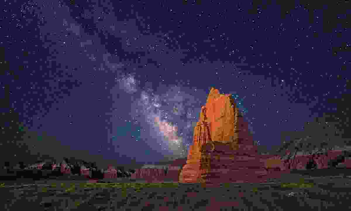 Gaze at the stars over the Temple of the Moon  in Capitol Reef National Park (Royce Bair)