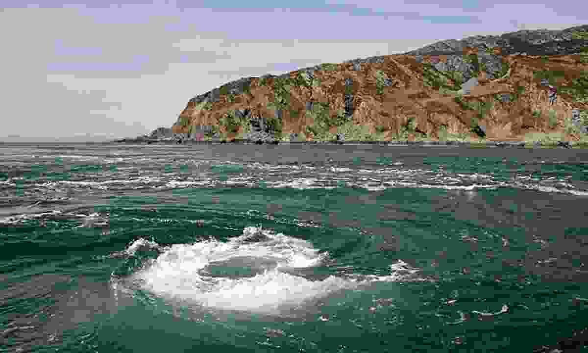 The whirlpool of Corryvreckan  (Creative Commons: Walter Baxter)
