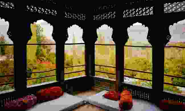 Autumn views from the restored Khaplu Palace (Dreamstime)