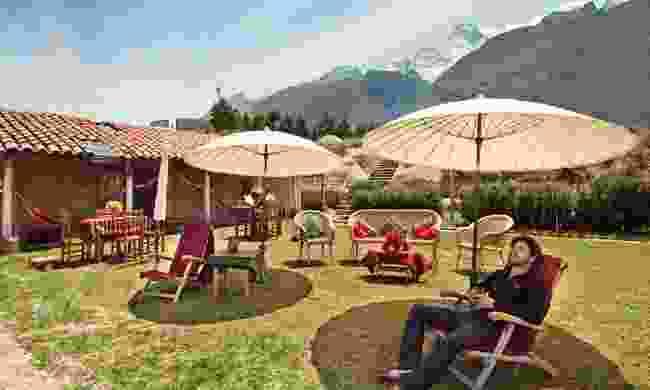 The lawn at Llanganuco Mountain Lodge (llanganucolodge.com)