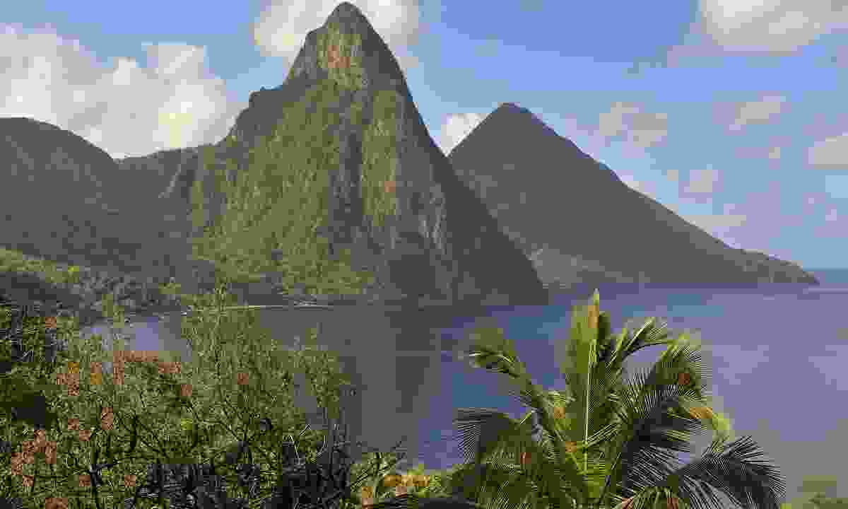 The famous Piton mountains in Saint Lucia (Shutterstock)