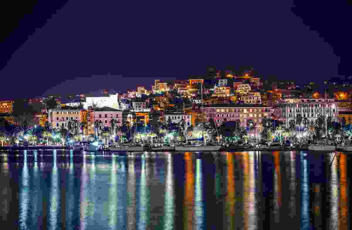 The marina at nightttime, La Spezia, Italy (Shutterstock)