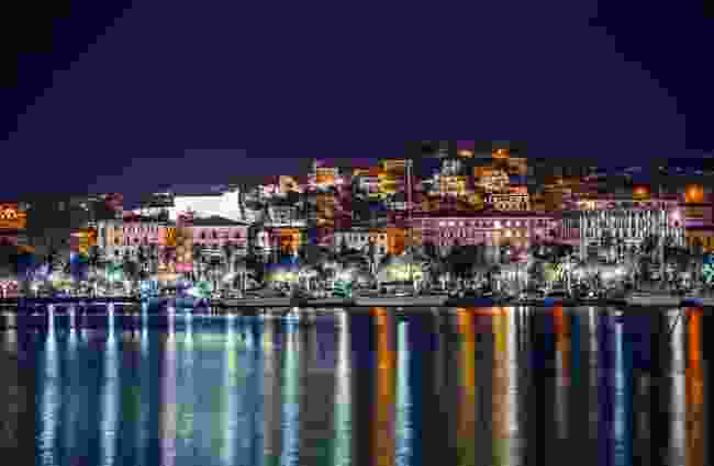 The marina at nightttime, La Spezia, Italy (Shutterstock)
