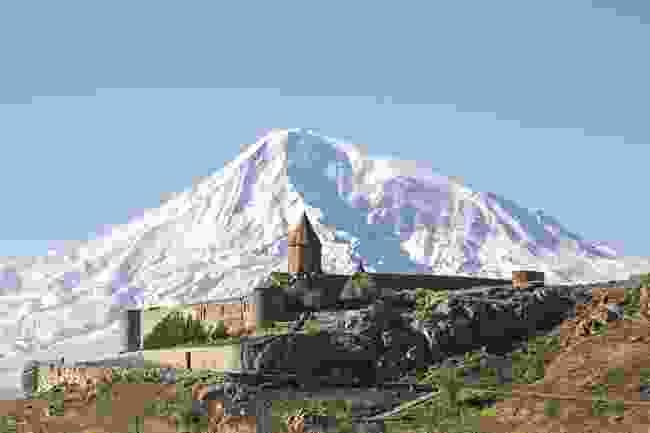 Khor Virap Monastery, with Mount Ararat as a backdrop (Shutterstock)