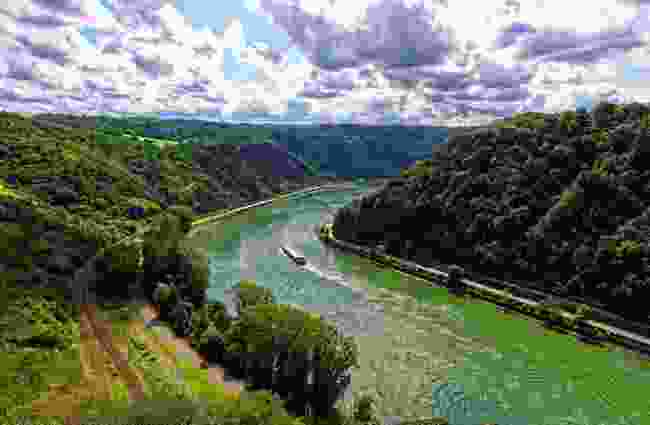 The Rhine Valley Line, Germany (Shutterstock)