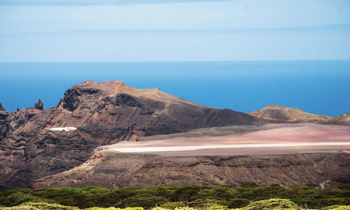 After some initial difficulties with crosswinds, regular flights to St Helena now arrive from Johannesburg (Lyn Hughes)