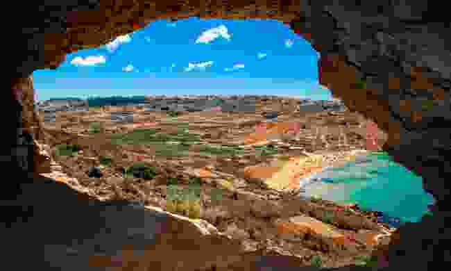 The view from Tal-Mixta Cave in Gozo (Shutterstock)