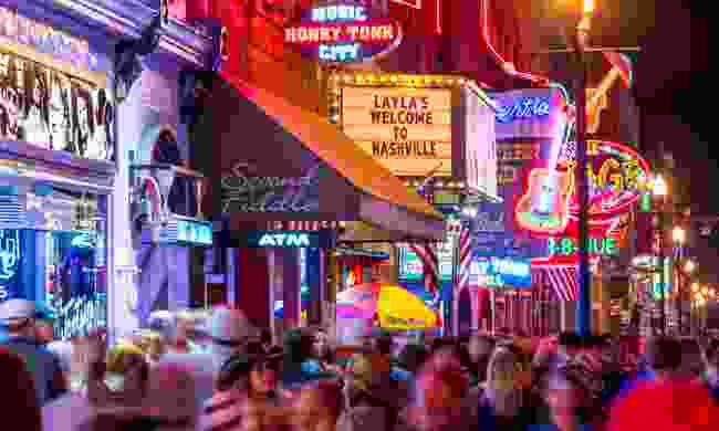 Nashville at night (Shutterstock)