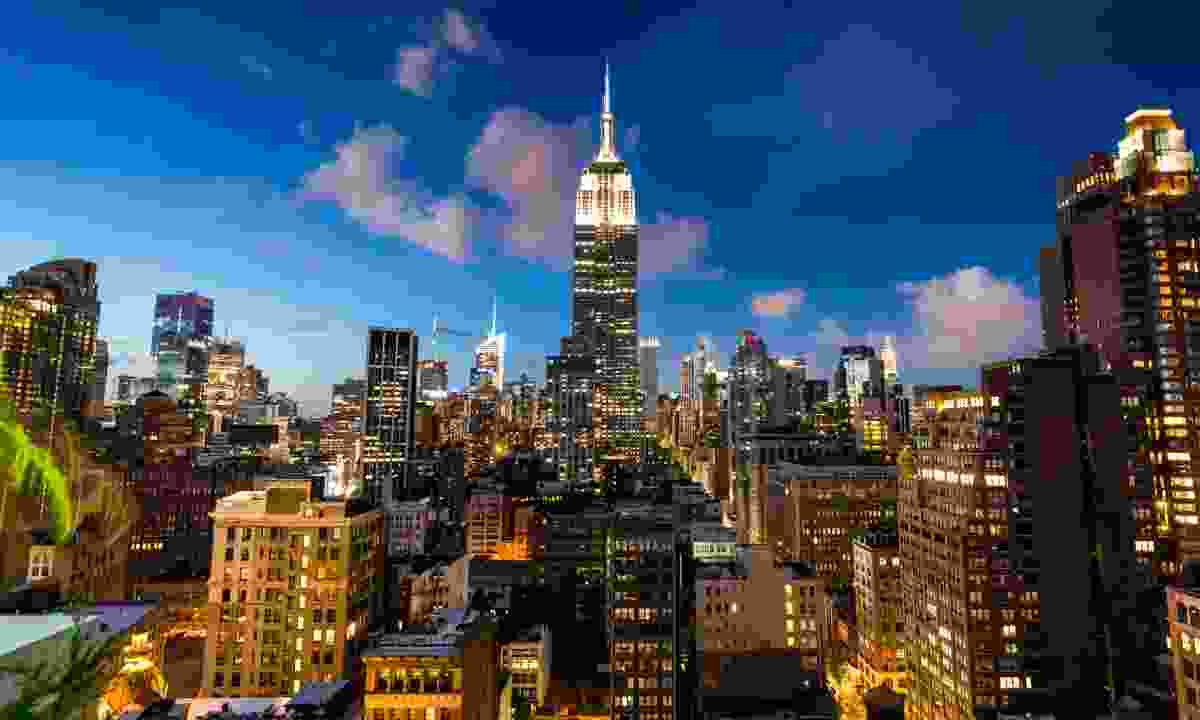 New York City skyline at night (Dreamstime)