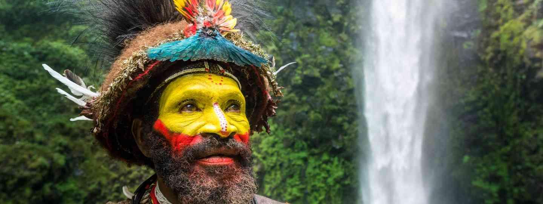 Huli wigman, PNG tribe (Nick Garbutt)