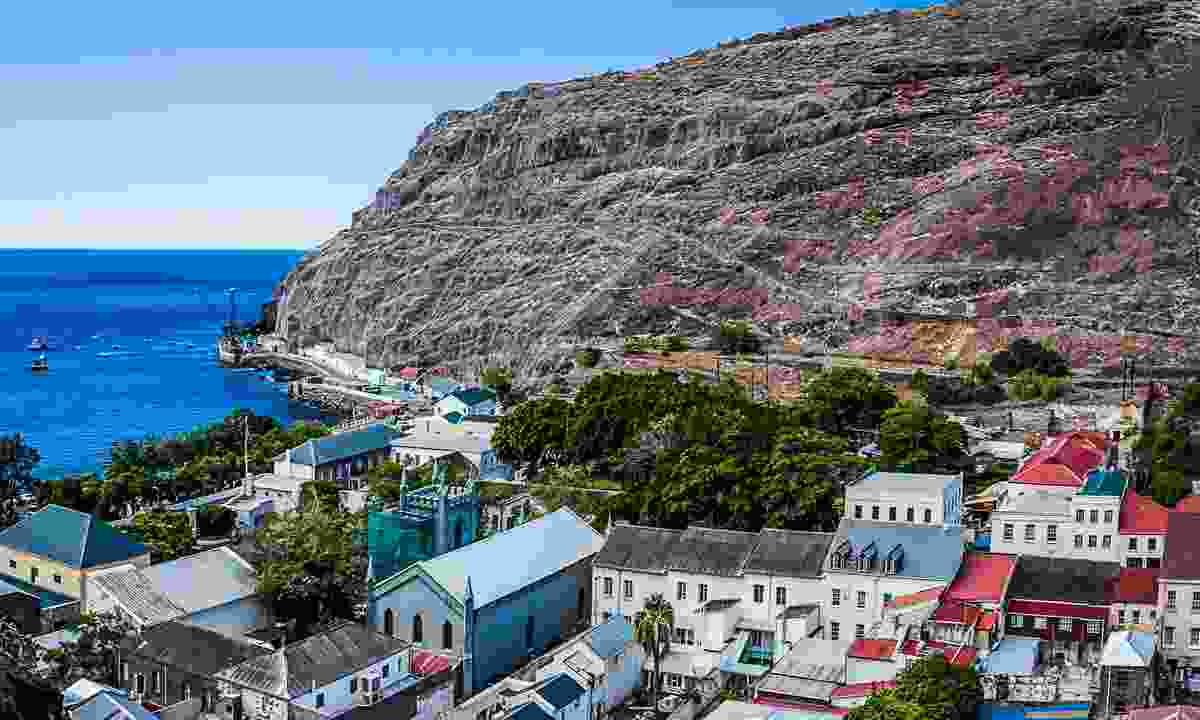 The view of Jamestown (St Helena Tourist Board)