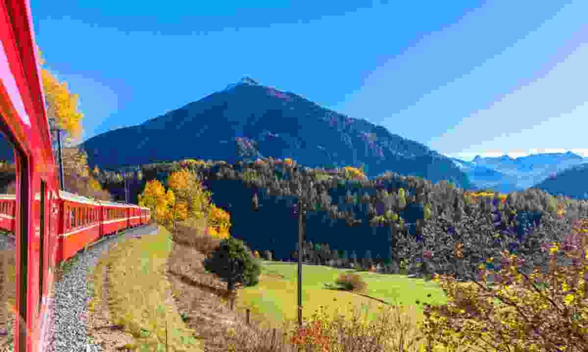 Rhaetian Railway in Switzerland (Shutterstock)