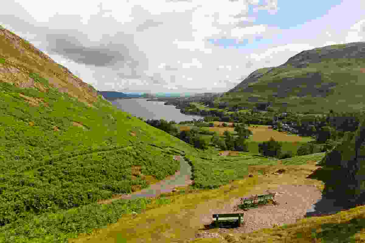 The view of Ullswater lake from Hallin Fell, Lake District, Cumbria (Dreamstime)