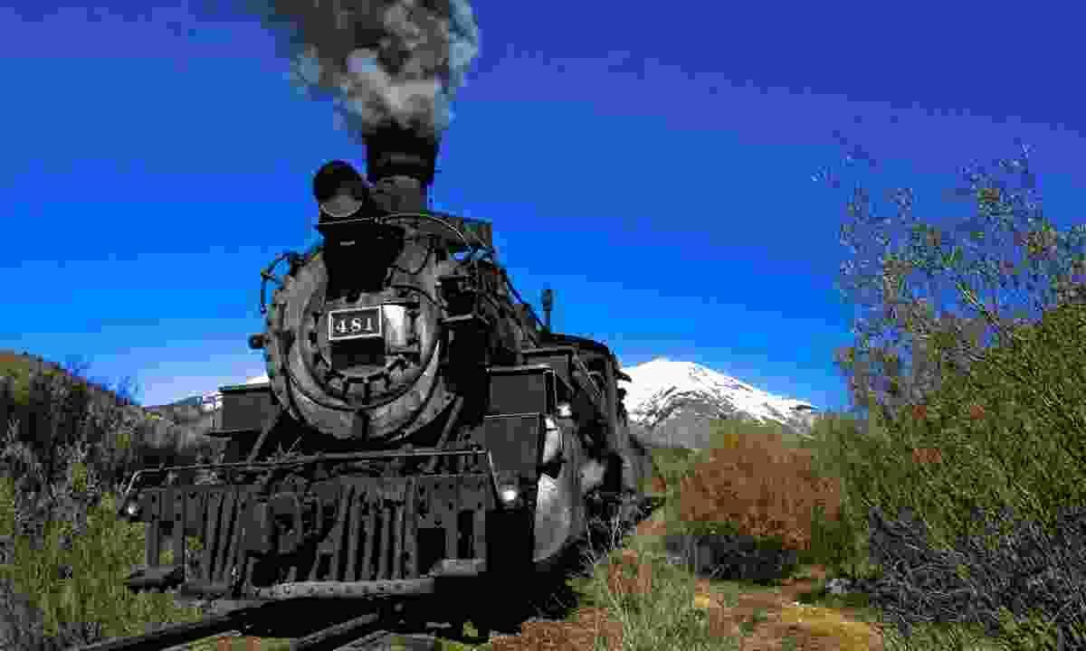 Steam engine on the Durango & Silverton Narrow Gauge Railway (Matt Inden & Miles)