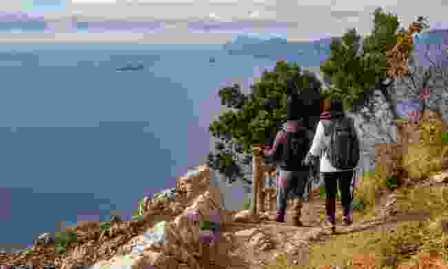 Trekking along the Amalfi Coast, Italy (Shutterstock)