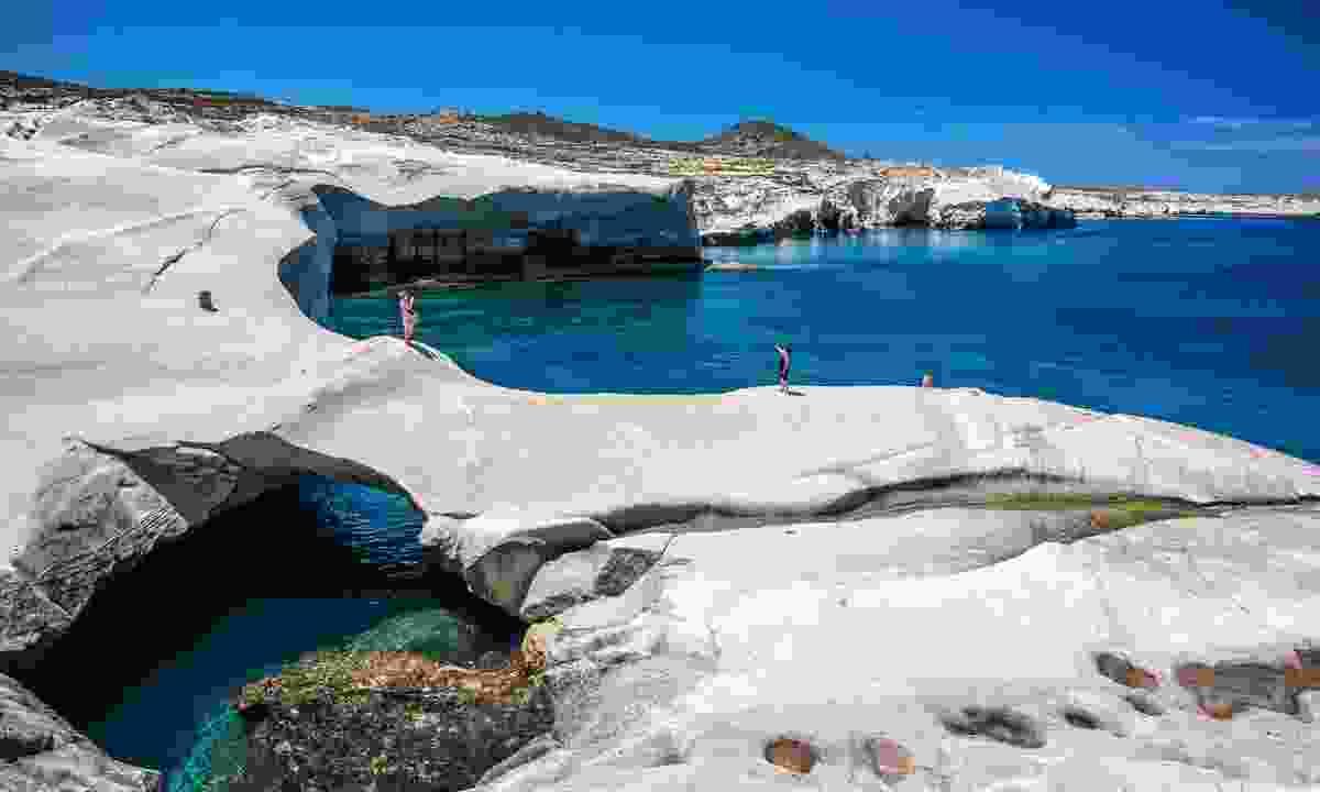 Sarakiniko beach at the island of Milos (Shutterstock)