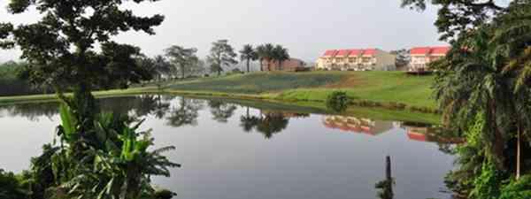 A lake in peaceful Equatorial Guinea West Africa (dreamstime.com)