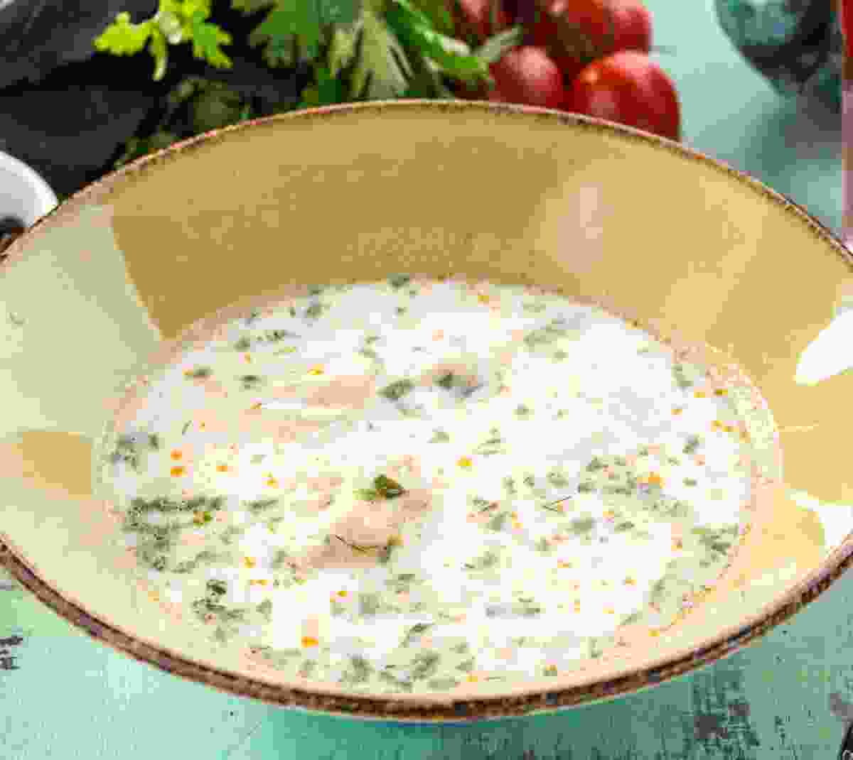One popular option at the Čardes is white fish soup (Dreamstime)