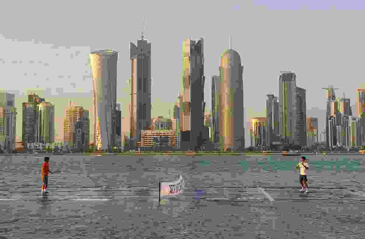 Floating tennis court, Doha, Qatar (ATP)