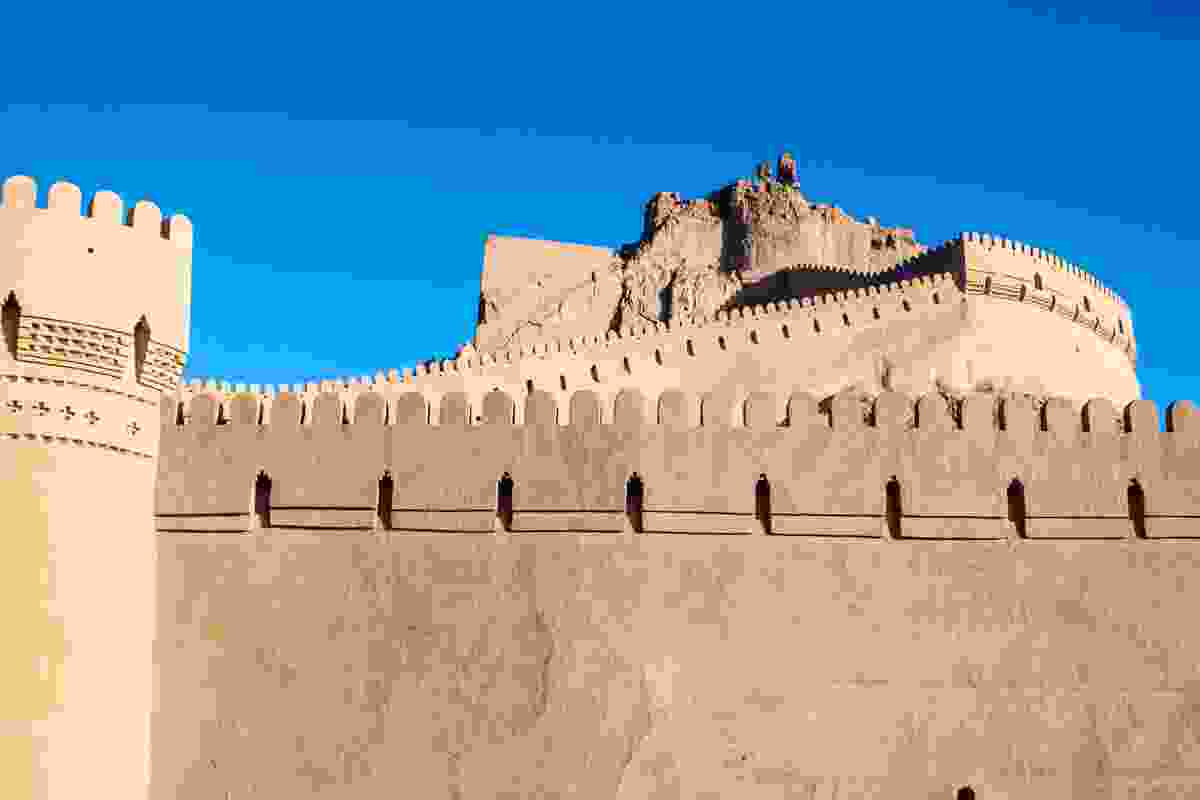 Fortified walls of Bam Citadel (Dreamstime)