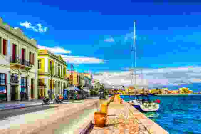 Chios Island harbour view (Shutterstock)