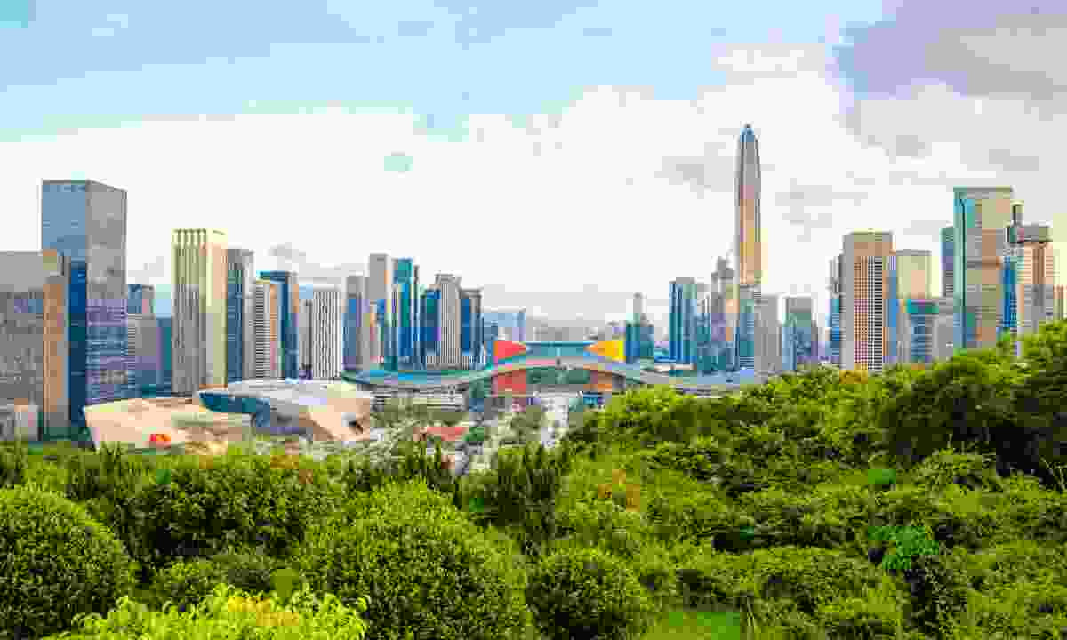 The view from Lianhua Mountain in the centre of the city (Shutterstock)