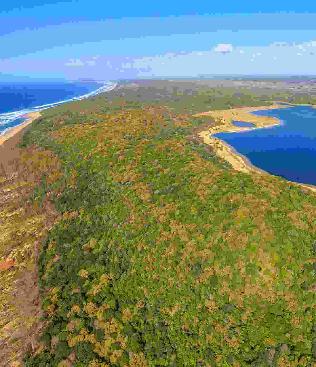 Aerial view of iSimangaliso Wetland Park (Shutterstock)