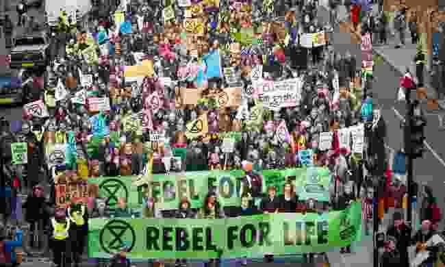 An Extinction Rebellion protest in London (Shutterstock)