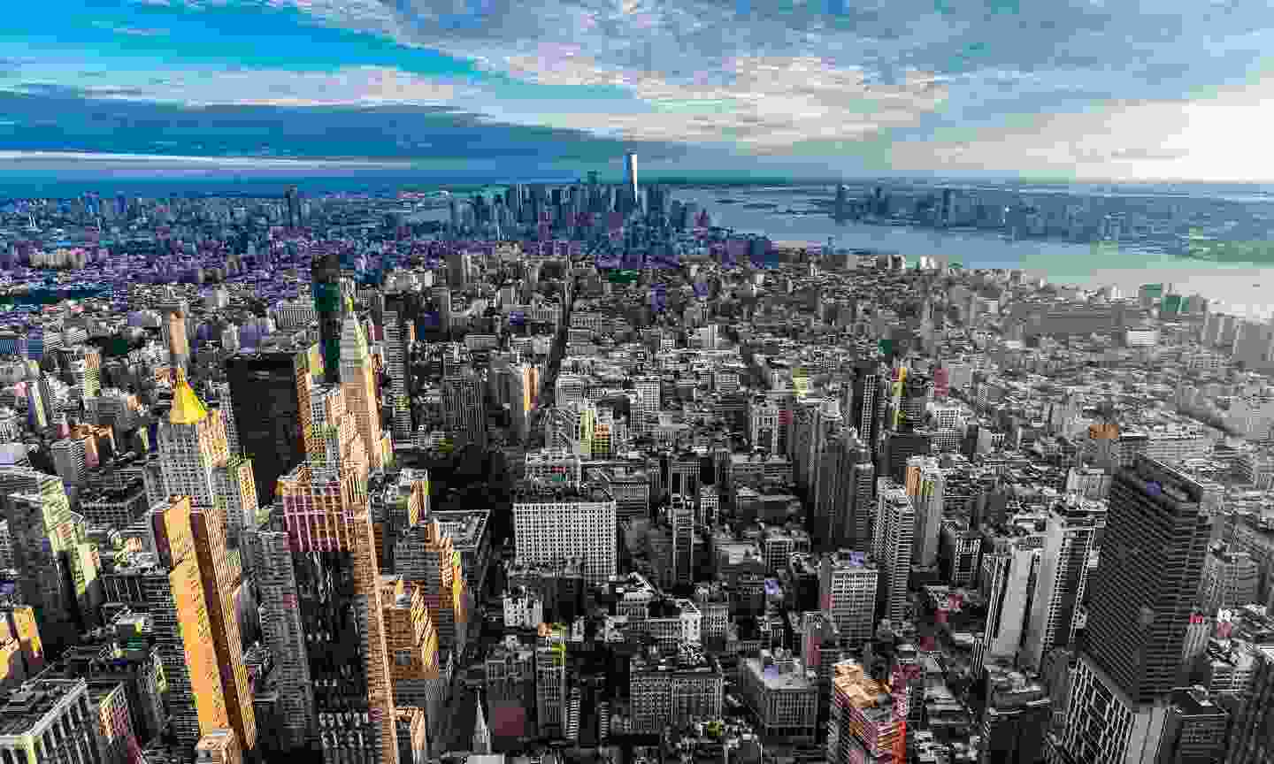 Elevated view of Manhattan at sunset (Shutterstock)