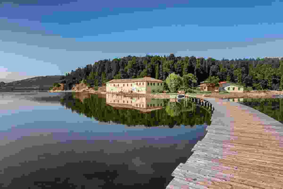 The monastery on Zvernec, Albania (Shutterstock)
