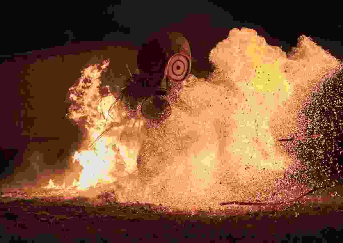 'The fire dance' captured near Rabaul, East New Britain, Papua New Guinea (Bret Charman)