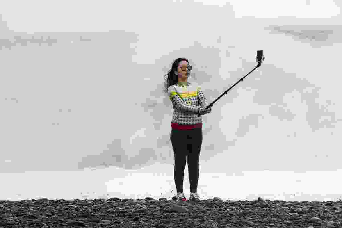 Storm selfie at Reynisdrangar beach, Iceland (Theo Bosboom)