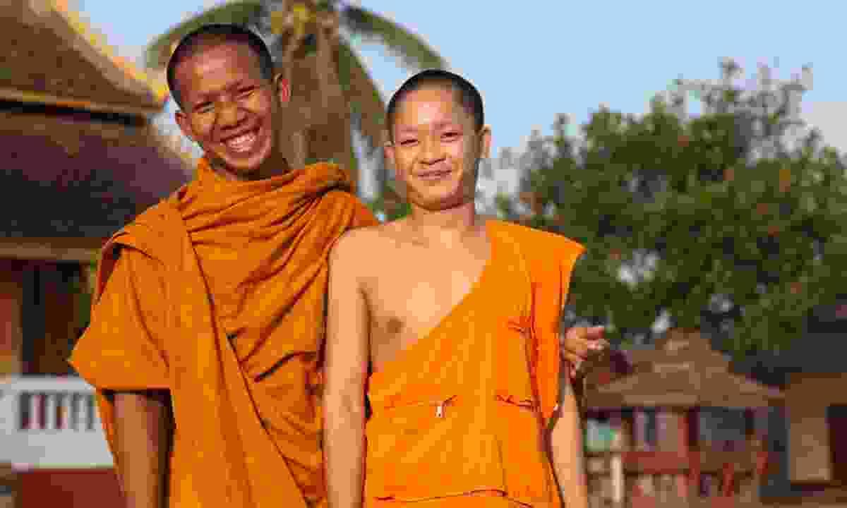 Novice monks in Laos (Dreamstime)