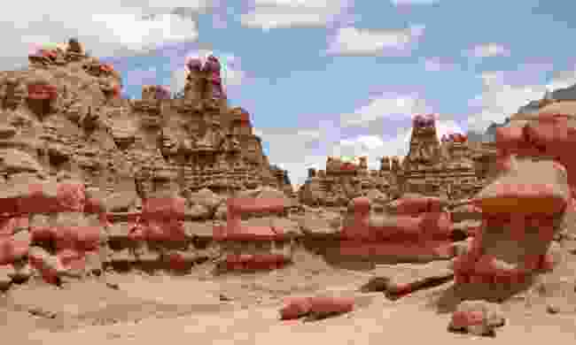 Visit the alien landscape of Goblin Valley State Park which was used as a backdrop to the film Galaxy Quest