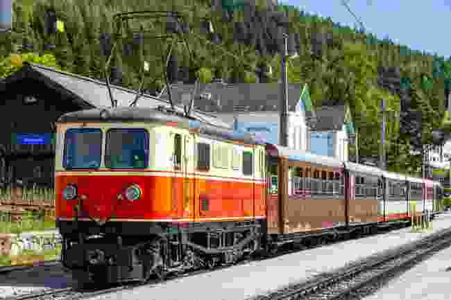 The Narrow Gauge or Mariazell Railway in the Austrian Alps (Shutterstock)