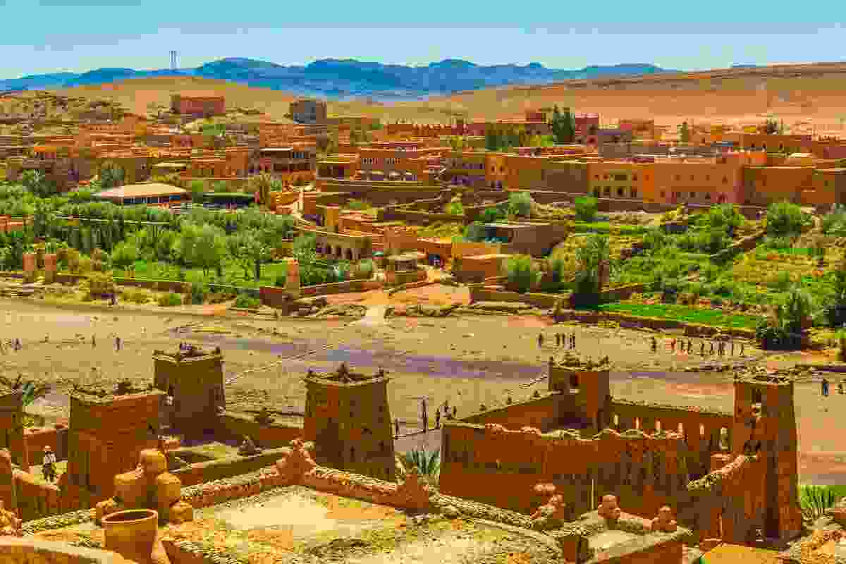 Ait Ben Haddour Ksar, a Berber town in Morocco and a UNESCO World Heritage Site (Dreamstime)